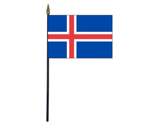"Iceland Stick Flag - 4x6"""