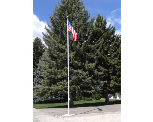 5x8' Heavy Duty American flag on a 30' Flagpole