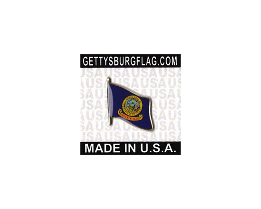 Idaho State Flag Lapel Pin (Single Waving Flag)