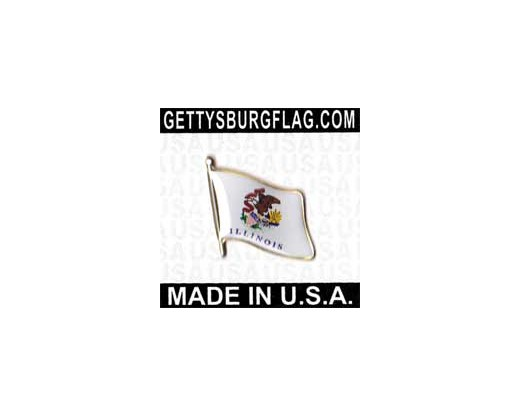 Illinois State Flag Lapel Pin