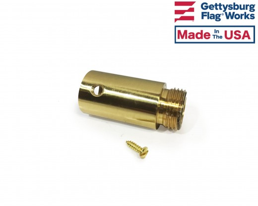 Finial Ferrule for Swedged Wood Pole, Gold on side