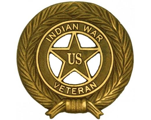 Indian War Veteran Bronze Grave Marker