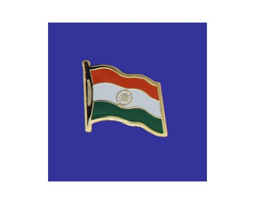 India Lapel Pin (Single Waving Flag)