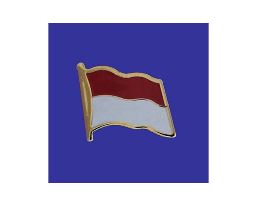 Indonesia Lapel Pin (Single Waving Flag)
