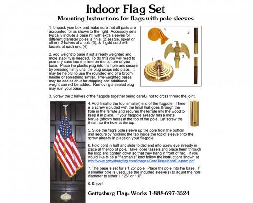 How to set up your indoor flag set