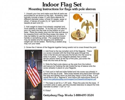 NEW YORK STATE INDOOR FLAG SET