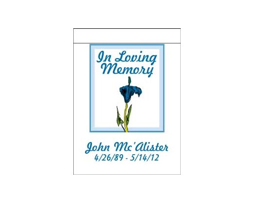 In Loving Memory Garden Flag