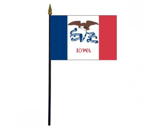 """Iowa State Stick Flag - 4x6"""""""