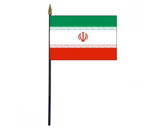 Iran Stick Flag - 4x6""