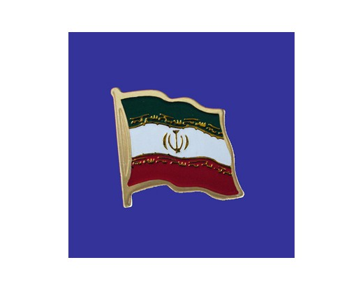 Iran Lapel Pin (Single Waving Flag)