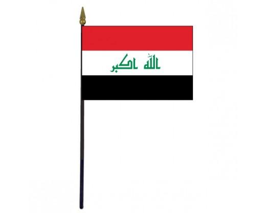"""Iraq Stick Flag - 4x6"""""""