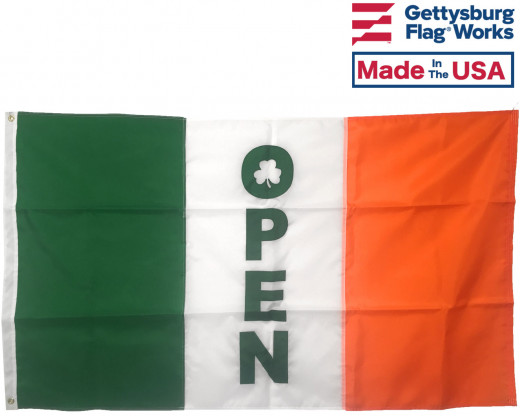 Irish Open Shamrock Flag