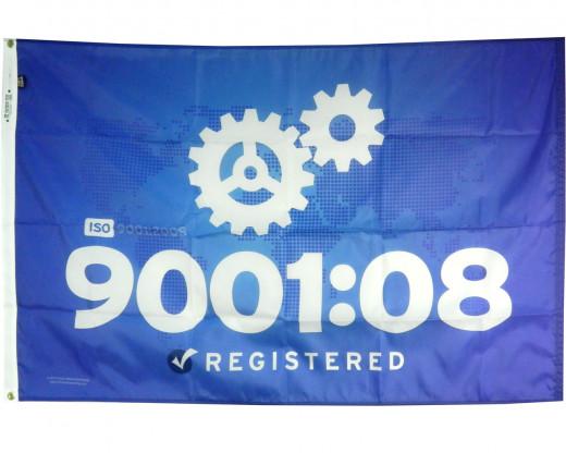 ISO 9001:2008 Flag Photo