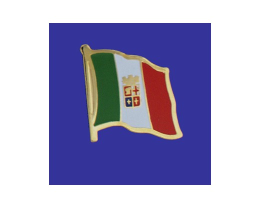 Italian Ensign Lapel Pin (Single Waving Flag)