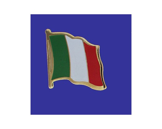 Italy Lapel Pin (Single Waving Flag) (Imported - Close Out)