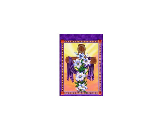 Cross & Lilies House Banner