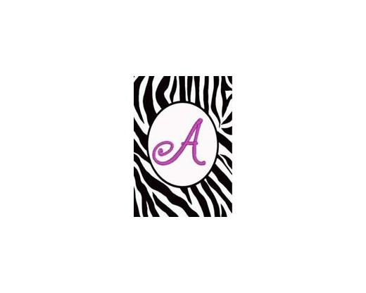 "Zebra Print ""A"" Garden Flag"