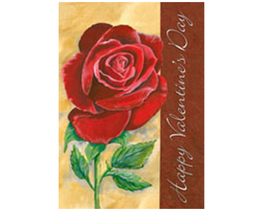 Valentine's Rose Flag
