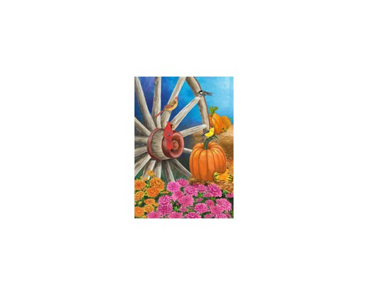 Autumn Wagon Wheel House Banner