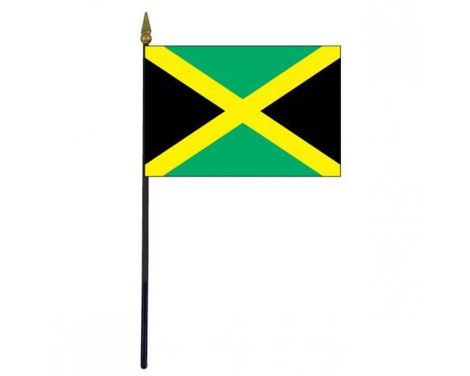 """Jamaica Stick Flag - 4x6"""""""