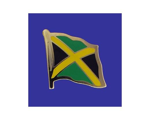 Jamaica Lapel Pin (Single Waving Flag)
