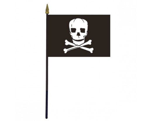 Jolly Roger Stick Flag - 4x6""