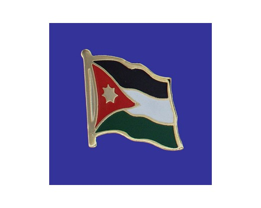 Jordan Lapel Pin (Single Waving Flag)