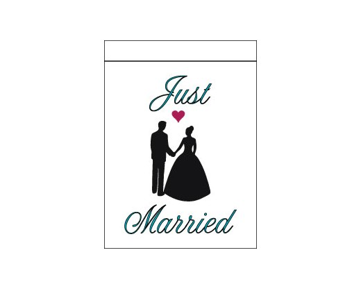 Just Married Flag