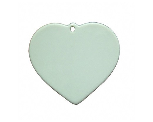 Custom Heart Porcelain Christmas Ornament