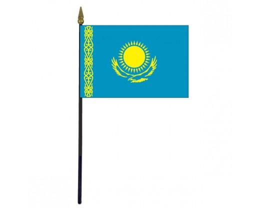 """Kazakhstan Stick Flag - 4x6"""""""