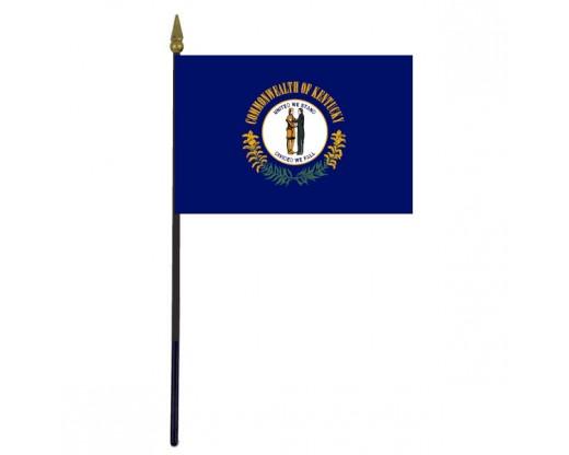 """Kentucky State Stick Flag - 4x6"""""""