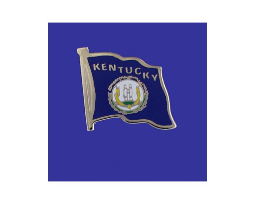 Kentucky State Flag Lapel Pin (Single Waving Flag) (Imported - Close Out)