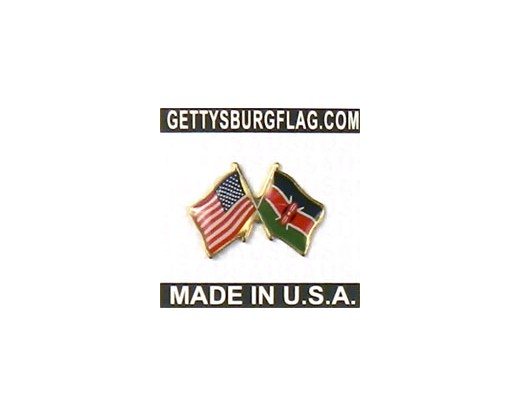 Kenya Lapel Pin (with US Flag)