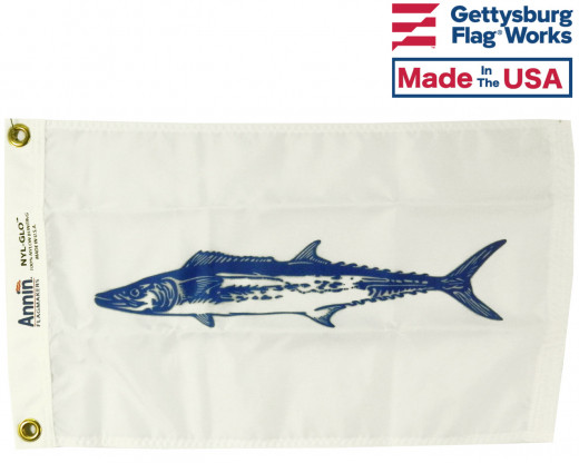 King Mackerel Flag - 12x18""