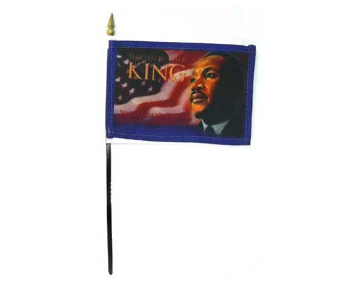 ML King Jr. Stick Flag - 4x6""