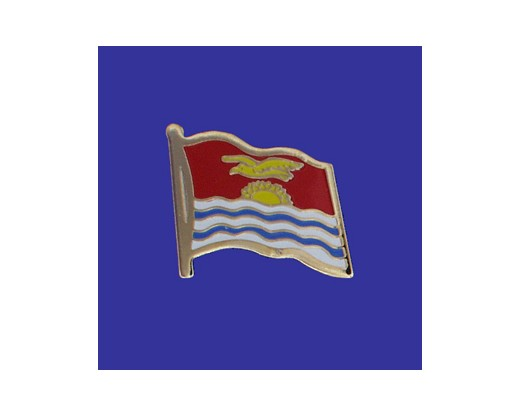 Kiribati Lapel Pin (Single Waving Flag)