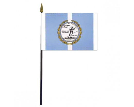 Korean War Commemorative Stick Flag - 4x6""