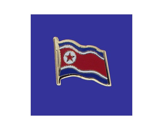 North Korea Lapel Pin (Single Waving Flag)