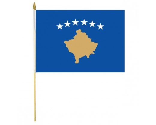 Kosovo Stick Flag