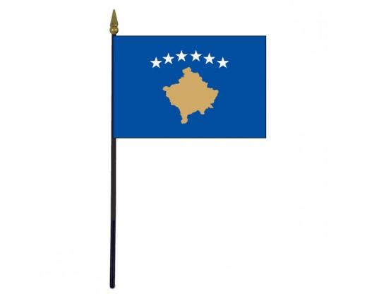 """Kosovo Stick Flag - 4x6"""""""
