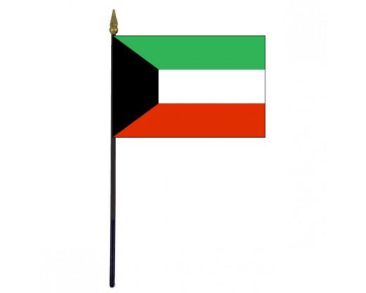 """Kuwait Stick Flag - 4x6"""""""