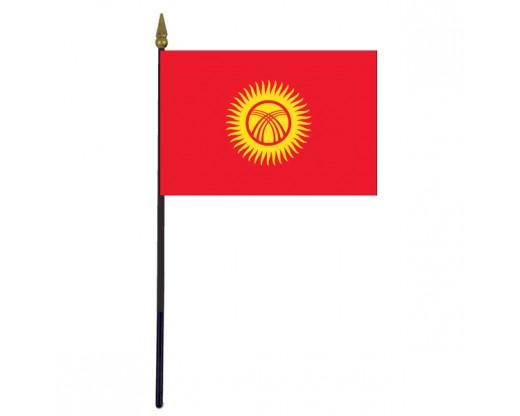 "Kyrgyzstan Stick Flag - 4x6"""