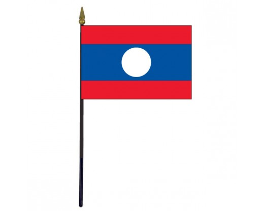 Laos Stick Flag - 4x6""