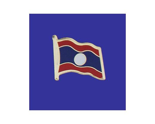 Laos Lapel Pin (Single Waving Flag)