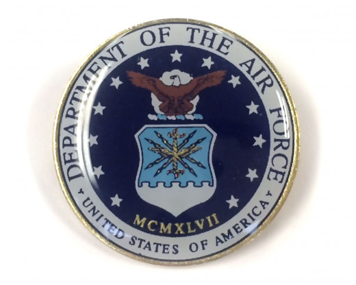 Air Force Seal Lapel Pin (Round Emblem Design)