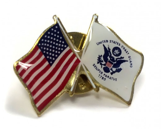 Coast Guard Flag Lapel Pin