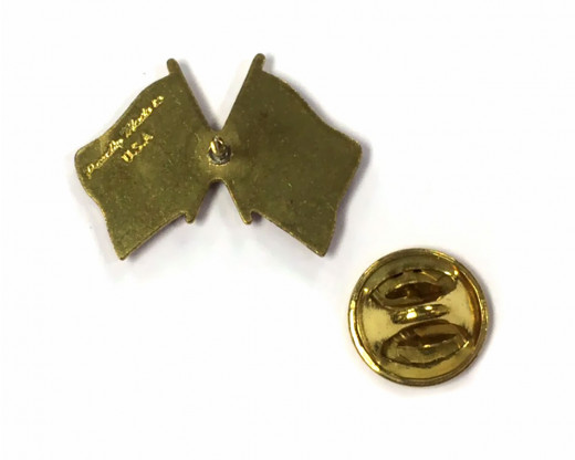 Marine Corps Flag Lapel Pin Back