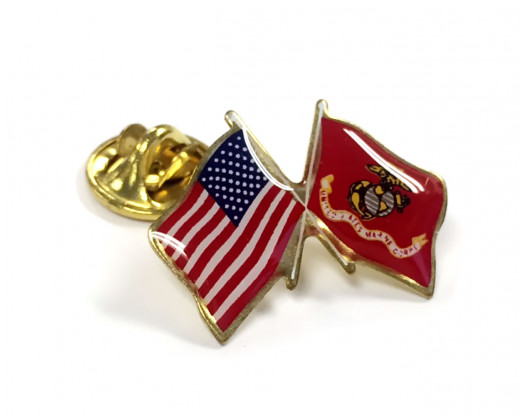 Marine Corps Flag Lapel Pin Clutch