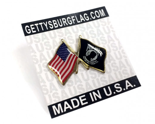 POW/MIA Lapel Pin Card