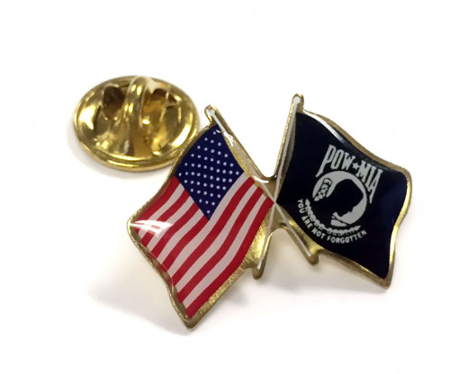 POW/MIA Lapel Pin Clutch